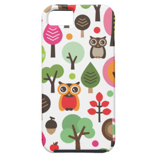 Cute retro owl and trees pattern iphone case iPhone 5 cases