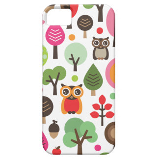 Cute retro owl and trees pattern iphone case iPhone 5 covers