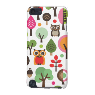 Cute retro owl and trees pattern ipod case iPod touch (5th generation) cases