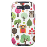 Cute retro owl and trees pattern samsung case