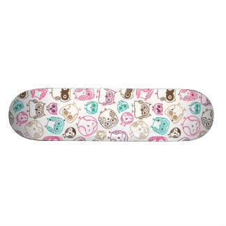 Cute retro owl bird pattern design skate decks