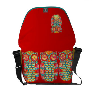 Cute Retro Owl Messenger Bag