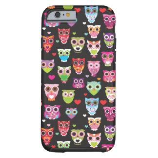 Cute retro owl pattern illustrated iPhone 6 case Tough iPhone 6 Case