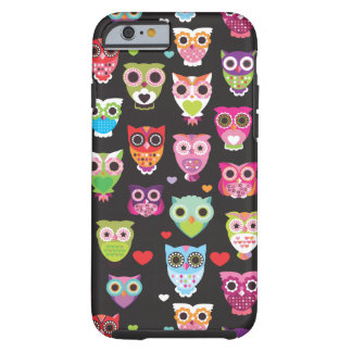 Cute retro owl pattern illustrated iPhone 6 case Tough iPhone 6 Case