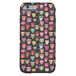 Cute retro owl pattern iPhone 6 case Tough iPhone 6 Case