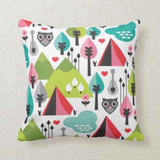 Cute retro owl wildlife pattern pillow case throw cushions