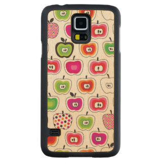 Cute retro pattern carved maple galaxy s5 case