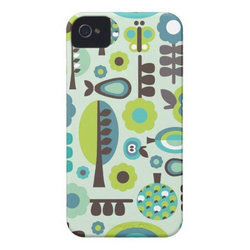 Cute retro pattern flowers iphone case Case-Mate iPhone 4 cases