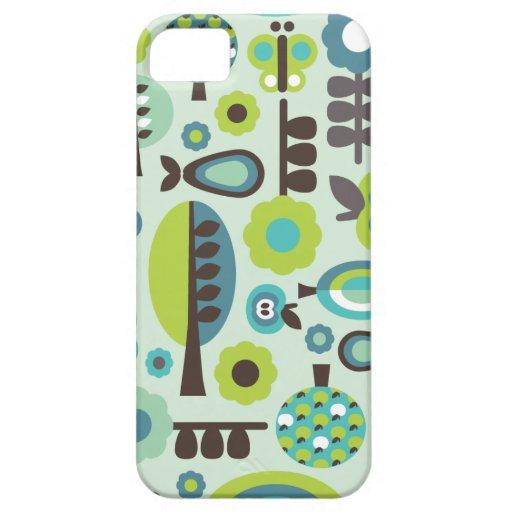 Cute retro pattern flowers iphone case iPhone 5 covers