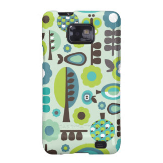 Cute retro pattern flowers samsung case galaxy s2 covers