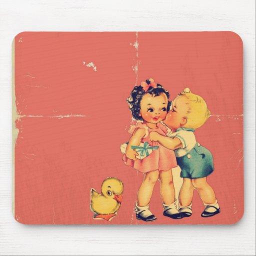 Cute retro pattern vintage kids mousepads