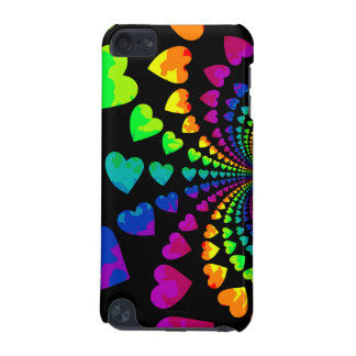 Cute retro rainbow hearts iPod touch (5th generation) covers