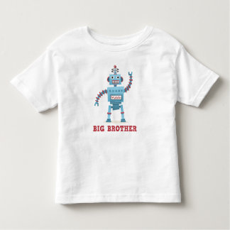 Cute retro robot cartoon android big brother toddler T-Shirt