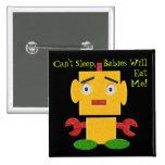 Cute Retro Robot - Yellow - Cant Sleep