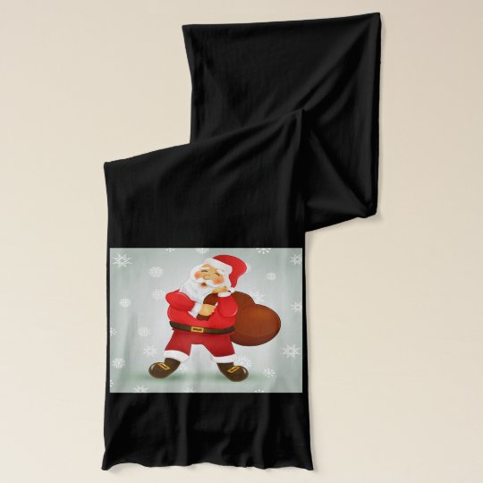 Cute retro Santa Claus Christmas gift Scarf