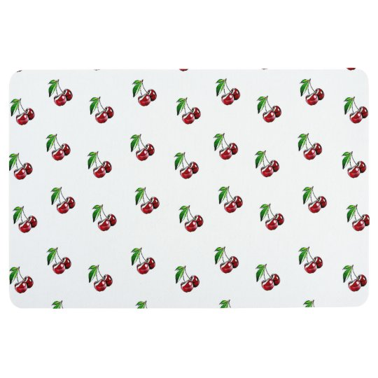 Cute Retro Style Cherry Kitchen Floor Mat