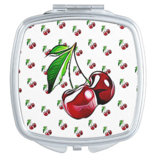 Cute Retro Style Cherry Mirror Compact Travel Mirror