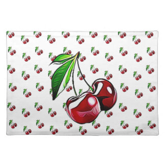 Cute Retro Style Cherry Place Mats