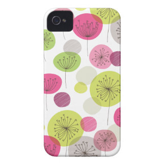Cute retro tree flower pattern design iPhone 4 cases