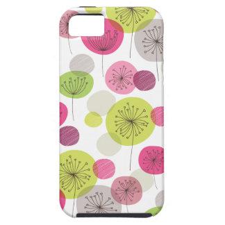 Cute retro tree flower pattern design iphone 5 tough iPhone 5 case