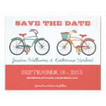 Cute Retro Vintage Bicycles Save the Date Personalized Invite