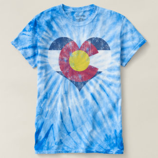 Cute Retro Vintage State Flag of Colorado Heart T-Shirt