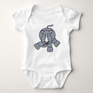 Cute Rhino Design Baby Bodysuit