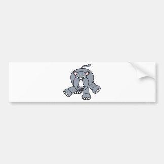 Cute Rhino Design Bumper Sticker
