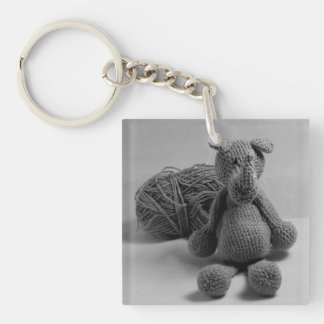 Cute rhino design key ring