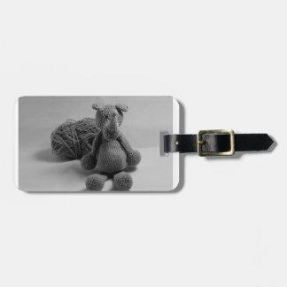 Cute rhino design luggage tag
