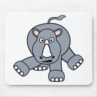 Cute Rhino Design Mouse Mat
