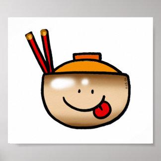 Cute rice bowl poster