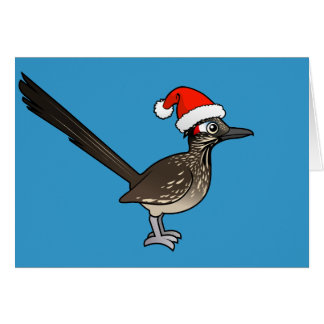 Cute Roadrunner Santa Claus Card