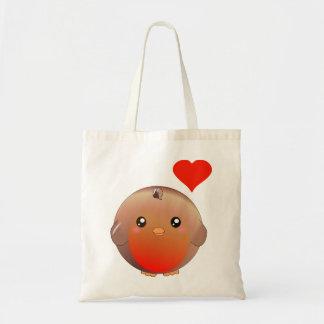Cute Robin Bird Budget Tote Bag