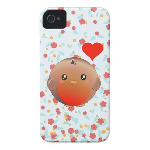 Cute Robin Bird iPhone 4 Case-Mate Cases