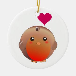 Cute Robin Bird Christmas Ornament