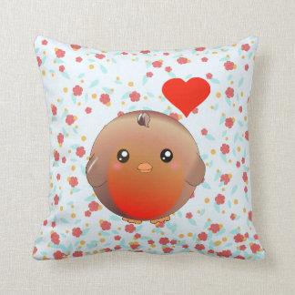 Cute Robin Bird Cushion