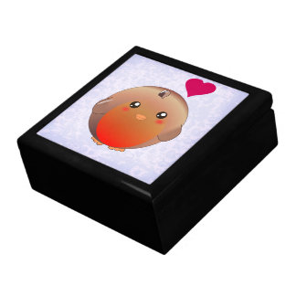 Cute Robin Bird Large Square Gift Box