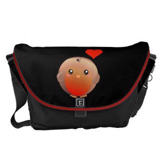 Cute Robin Bird Courier Bags