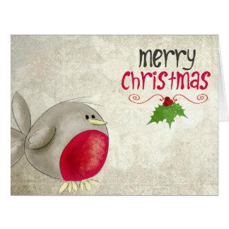 Cute Robin Christmas Card