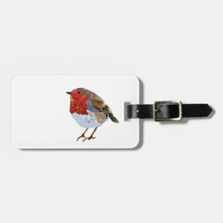 Cute robin luggage tag