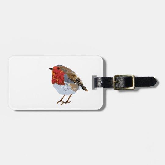 Cute robin luggage tag