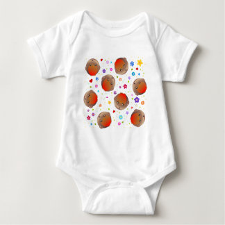 Cute robins and flowers pattern baby bodysuit
