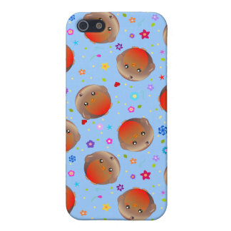 Cute Robins and Flowers Pattern iPhone 5 Cases