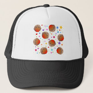 Cute robins and flowers pattern trucker hat