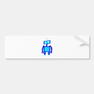 Cute Robot Bumper Sticker
