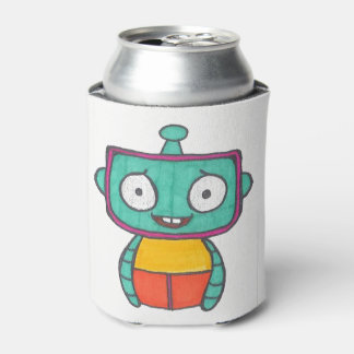 Cute Robot Can Cozy Can Cooler