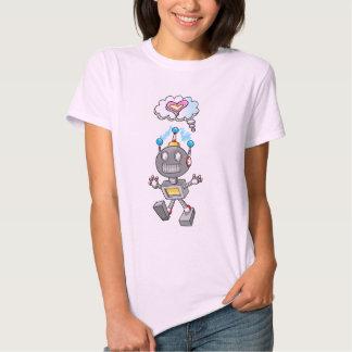 Cute Robot Cyborg Love Thought bubble T-Shirt