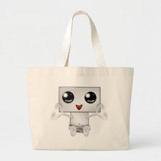 Cute Robot Large Tote Bag