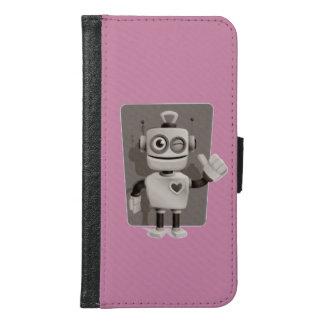 Cute Robot Samsung Galaxy S6 Wallet Case